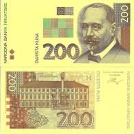 Croatia P33, 200 Kuna,, 1993, Color Trial - 2 Piece - Croatia