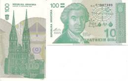 Croatia P20a, 100 Dinar, Geometric Calculations $4CV - Croatia