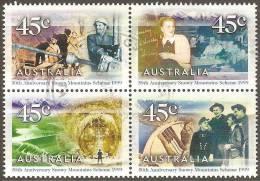 AUSTRALIA - USED  1997 45c Snowy Mountains Scheme - Block Of Four - 1990-99 Elizabeth II