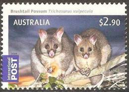 AUSTRALIA - USED  2009 $2.90 Bush Babies - Brushtail Possum, International - Animal - Used Stamps