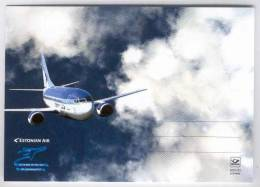 Estonian Air: 10 Years In The Sky. Boeing 737. Postcard - 1946-....: Era Moderna