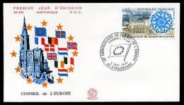27505) Frankreich - Michel 1872 - FDC - 25 Jahre Europarat - FDC