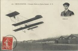 69 - BRON AVIATION - L'aviateur Berlot Sur Biplan Sommer - Avions