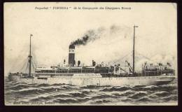 Cpa Paquebot  Formosa  De La Compagnie Des Chargeurs Réunis   PUO14 - Paquebots