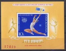 JO84/E3 - ROUMANIE  BF 169A+B Non-dentelés Neufs** - Jeux Olympiques 1984 Los Angeles - Blocks & Kleinbögen