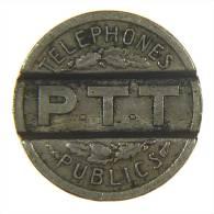 TOKEN GETTONE TELEFONICO FRANCIA FRANCE 1937 TELEPHONE - Professionali / Di Società