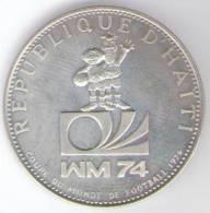 HAITI 25 GOURDES 1973 AG COUPE DU MONDE DE FOOTBALL - Haiti