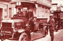 Postcard LGOC Southern Bus General Strike 1926 Soldier Nostalgia - Strikes
