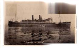 """AK SCHIFFE SHIP DAMPFER  """" VICEROY OF INDIA  """"  FOTOGRAFIE OLD POSTCARD 1929 - Dampfer"""