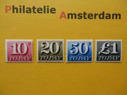 Great Britain 1970, PORTO / TAXE / POSTAGE DUE: Mi 76-79, ** - Strafportzegels