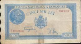 Romania-5000 Lei 2 Mai 1944 Circulated-2/scans - Rumania