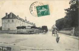 78 MANTES - L HOPITAL ET LE FAUBOURG SAINT LAZARE ( ATTELAGE ) - Mantes La Ville