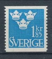 Sweden 1967 Facit # 307, Three Crowns, 1.85 Kr, Blue, MNH (**) - Schweden