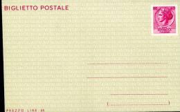 BIGLIETTO POSTALE SIRACUSANA 40+5 L 1966 NUOVO - Stamped Stationery