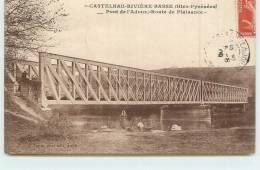 CASTELNAU RIVIERE BASSE  - pont de l'adour, route de plaisance. (lavandi�re)
