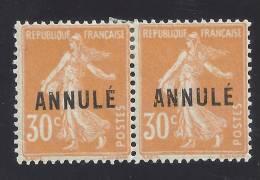France Cours D´instruction Michel 120 Annulé (2x), Yv 141-CI 1 * Avec Charn, 30c Säerin, Maury 15 - Cours D'Instruction