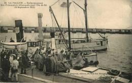 Dép 17 - Militaria - Guerre 1914-18 - Cachet - La Rochelle - La Pallice - Prisonniers Allemands Pour L'Ile De Ré - La Rochelle