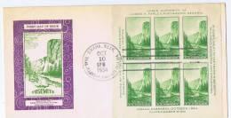 USA: 1934  Mi  Block  6, Sc 751, National Parcs   FDC - 1851-1940
