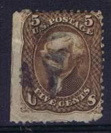 USA:1861 Scott 76 Used,  1 Side Imperforated - 1847-99 Algemene Uitgaves