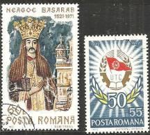 Romania 1971/2 Usato - Mi.2978+3011  Yv.2660+2673 - 1948-.... Republiken