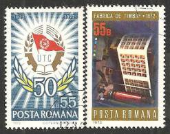 Romania 1972 Usato - Mi.3011;3050  Yv.2673;2705 - 1948-.... Republiken