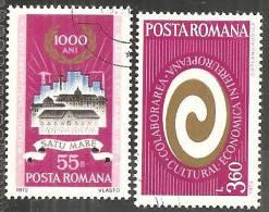 Romania 1972/3 Usato - Mi.3051;3121  Yv.2712;2756 - 1948-.... Republiken