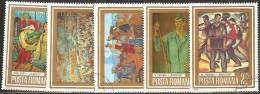 Romania 1972/3 Usato - Mi.3150/54  Yv.2816/20 - 1948-.... Republiken