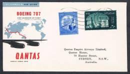 QANTAS FIRST FLIGHT 707 JET AIRLINER EGYPT-SYDNEY 1959 - First Flight Covers
