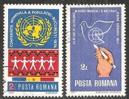Romania 1974 Usato - Mi.3218;3220  Yv.2852;2854 - 1948-.... Republiken