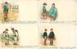 Humour Militaire , Illustrateur Guillaume Beau LOT De 4 Cartes - Guillaume