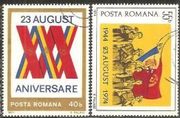 Romania 1974 Usato - Mi.3221/22  Yv.2861/62 - 1948-.... Republiken