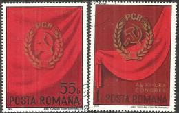 Romania 1974 Usato - Mi.3238/39  Yv.2875/76 - 1948-.... Republiken