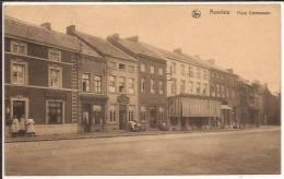 AUVELAIS Place  Communale Avec Café Cachet 1927 - Sambreville