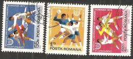 Romania 1975 Usato - Mi.3244/46  Yv.2881/83 - 1948-.... Republiken