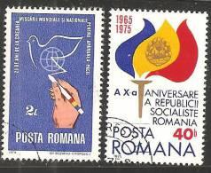 Romania 1975 Usato - Mi.3220;3253  Yv.2854;2891 - 1948-.... Republiken