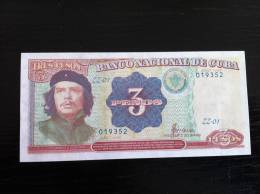 CUBA CHE GUEVARA 3 Pesos 1995 Replacement ZZ Unc - Cuba