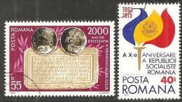 Romania 1975 Usato - Mi.3261;3264  Yv.2893;2900 - 1948-.... Republiken