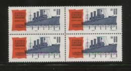 POLAND 1962 45TH ANNIVERSARY OF THE RUSSIAN OCTOBER REVOLUTION BLOCK OF 4 NHM RUSSIA COMMUNISM SHIP - Schiffe