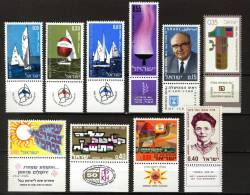 Israel 1970, 10 Stamps **, MNH - Neufs (avec Tabs)