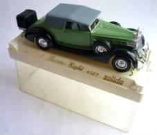 VOITURE - AUTOMOBILE - SOLIDO EN BOITE - PACKARD SUPER-EIGHT - AGE D´OR - Solido