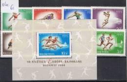 HG 39 - HONGRIE Bloc N° 60 + Série 1852/59 Championnat D´Europe D´Athlétisme 1966 Neufs** - Athletics