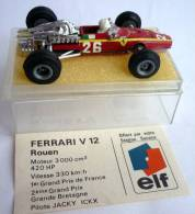 VOITURE - AUTOMOBILE -  CHAMPION - FORMULE 1 - PUBLICITAIRE ELF - FERRARI V12 Rouen