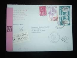 LR AR TP AVION 5,00F + USSEL 2,00F + MARIANNE DE BEQUET 1,00F OBL. 13-1-1978 FLERS (61 ORNE) - Marcofilia (sobres)