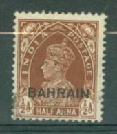 Bahrain: 1938/41   KGVI 'Bahrain' OVPT  SG21   ½a     Used - Bahreïn (...-1965)