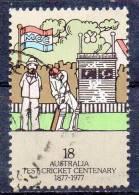 AUSTRALIA 1977 Centenary Of Australia-England Test Cricket - 18c. - Umpire And Batsman   FU - 1913-36 George V: Heads