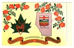 AS: Katherine Huber, Centennial Of Canadian Red Deer Confederation, Red Deer, Alberta, Canada, PU-1967 - Alberta