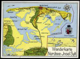 AK Map, Landkarte, Wanderkarte Nordsee Insel Sylt - Maps