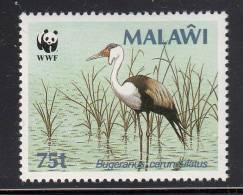 Malawi MNH Scott #497 75t Crane In Water (Bugeranus Carunculatus) - World Wildlife Fund - Malawi (1964-...)