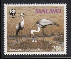 Malawi MNH Scott #496 20t Cranes Nesting (Bugeranus Carunculatus) - World Wildlife Fund - Malawi (1964-...)