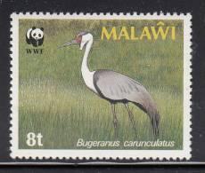 Malawi MNH Scott #494 8t Crane In Field (Bugeranus Carunculatus) - World Wildlife Fund - Malawi (1964-...)